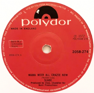 "Slade - Mama Weer All Crazee Now (7"") (G+/EX+)"